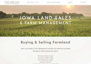 Iowa Land Sales 2.0 Web Site Design by Shrieking Tree