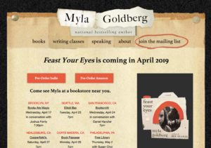 Myla Goldberg 2.0 Web Site